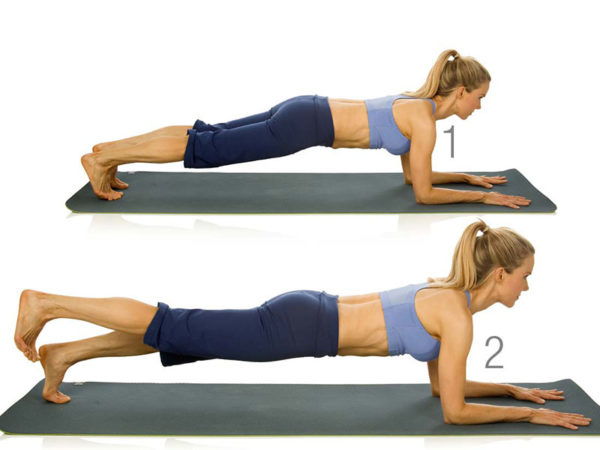 plank with left leg